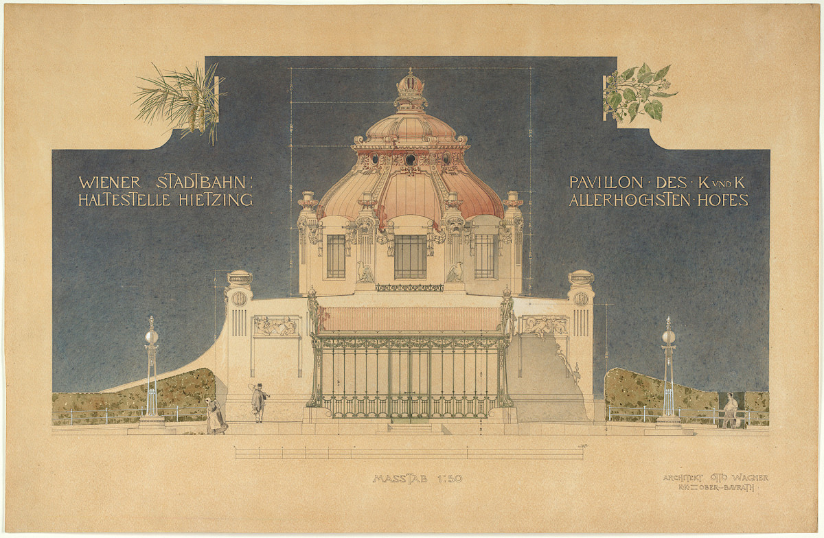Joseph Maria Olbrich | Imperial Court Pavilion At The Vienna Metropolitan  Railway Station In Vienna