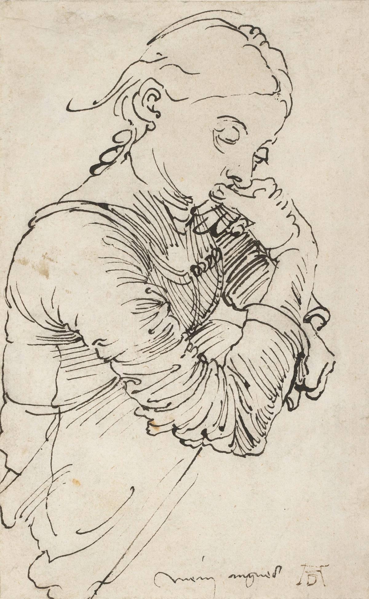 "Albrecht Dürer: ""My Agnes"" (Agnes Dürer), 1494"