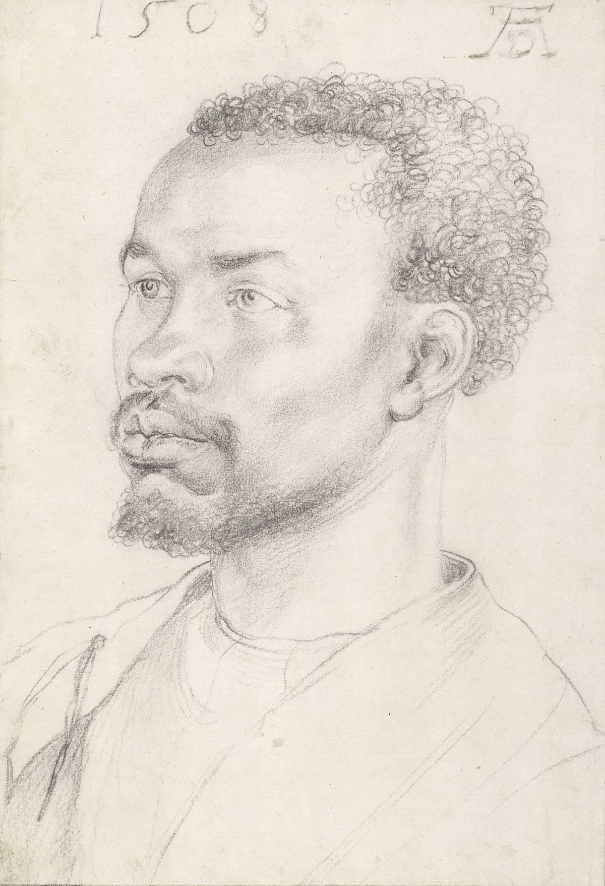 Albrecht Dürer: Ritratto di un uomo africano, 1508
