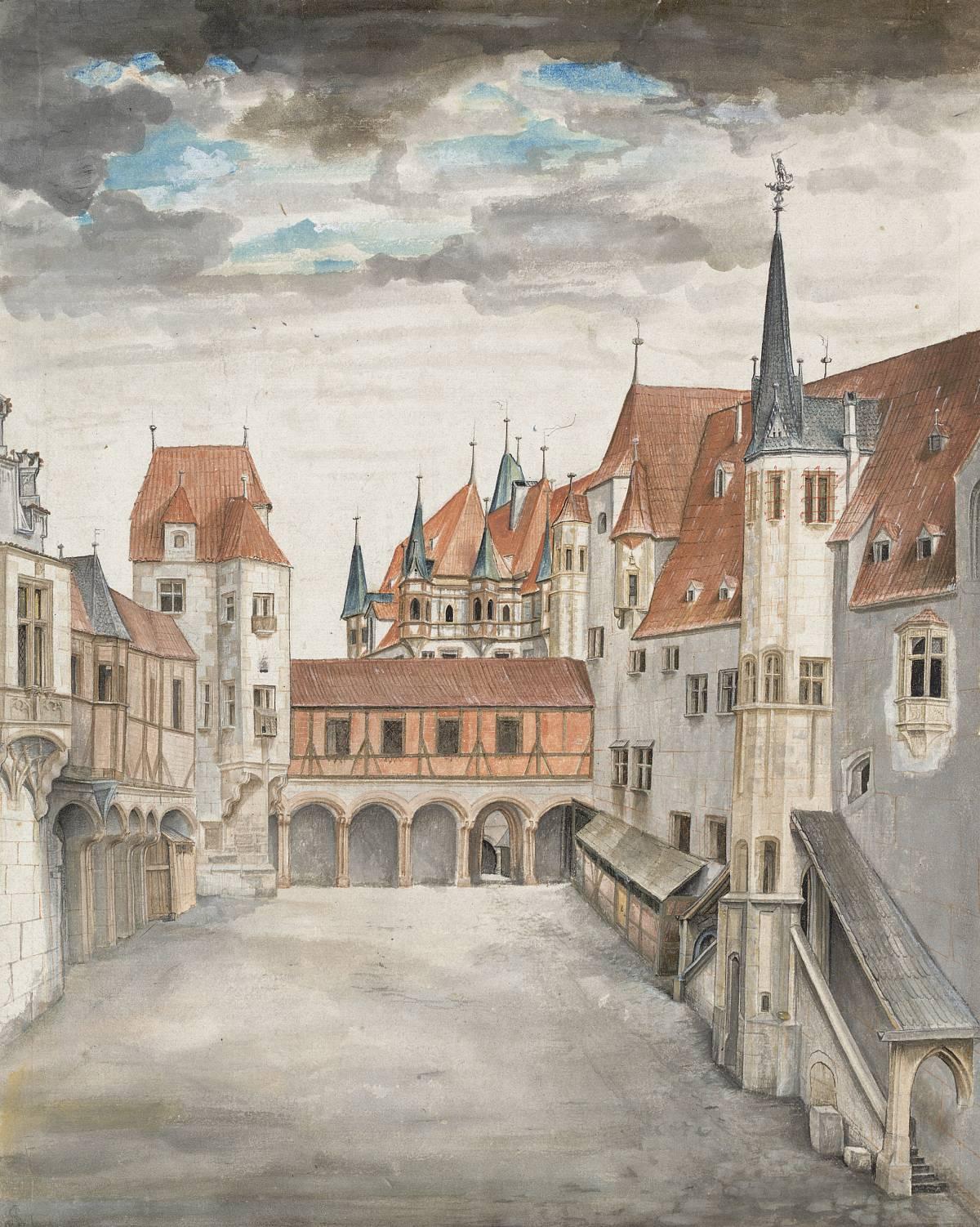 Albrecht Dürer: veduta di Innsbruck da nord, circa 1495