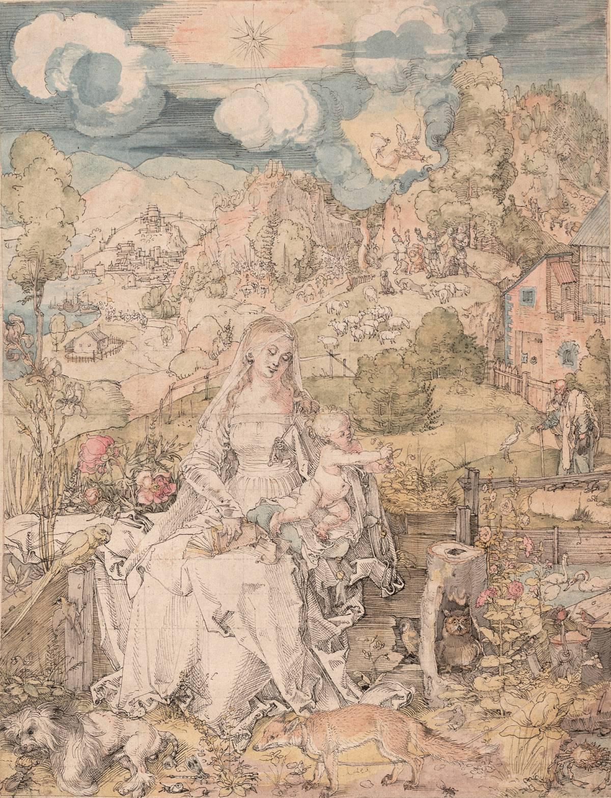 Albrecht Dürer: La Vergine con una moltitudine di animali, c. 1506