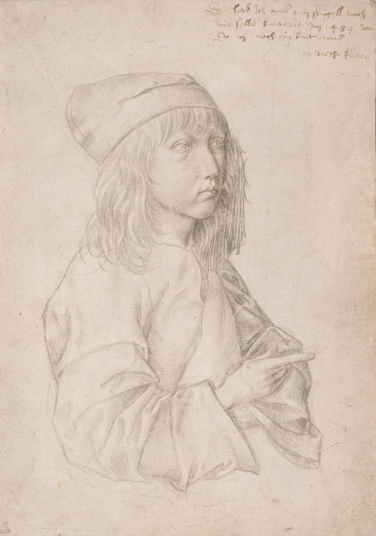 Albrecht Dürer: autoritratto all'età di tredici anni, 1484